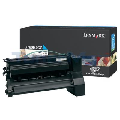 LEXMARK C780 X782 TONER CARTRIDGE CYAN 10K